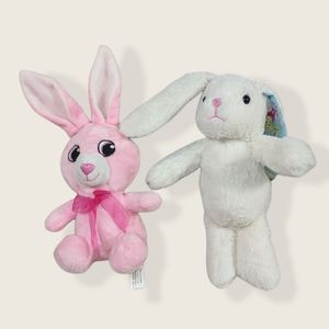Cute Bunny pink and white  Plush lot